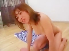 chubby mature asian trying different dogs